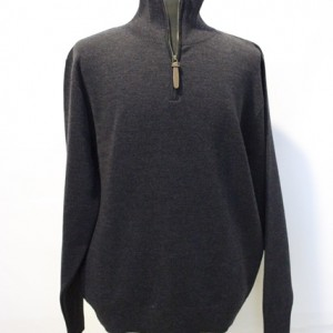 AB1634 Mens Classic Half Zip Jumper Charcoal