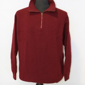 AB8200 Mens Fisher Rib Half Zip Polo Burgundy