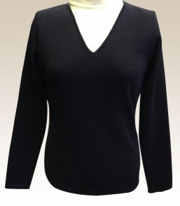 MG Ladies 100% Wool Long Sleeve Corporate Vee Jumper