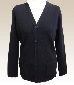 MG Ladies 100% Wool Corporate Vee Cardigan with Pockets