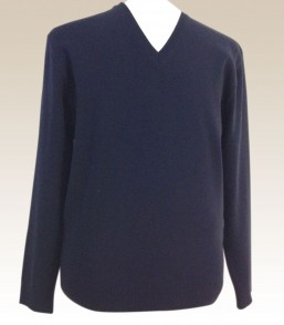MG Men 100% Wool Corporate Vee Jumper