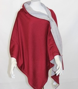 MG Fine Australian Merino Ladies Reversible Wrap