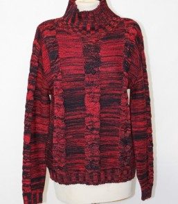 MG Australian Merino Cable Turtle Neck Multi Jumper