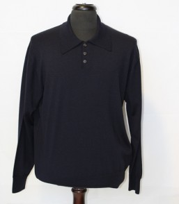 MG Extra Fine Merino 3 Button L/S Polo Shirt