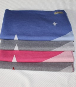 "MG Ultra Fine Merino Extra Warm  ""Twinkle Star"" Baby Blanket  (Cot)"