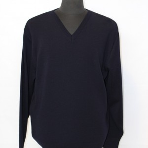 AB1649 Mens Med Weight Classic Vee Navy