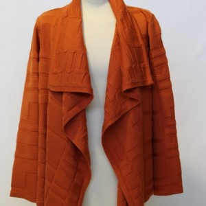 MGW1603 Ladies Geometric Design Jacket Orange