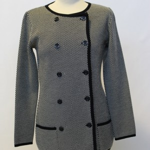 MGW1610 Ladies Double Breasted Hounds Tooth Jacket