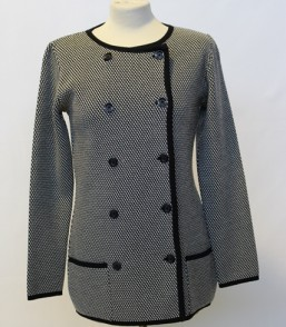 MG Australian Merino Elegant Double Breasted Hounds Tooth Jacket